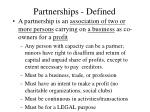 partnerships defined