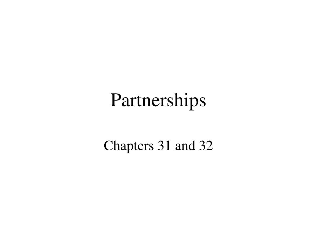 partnerships l.