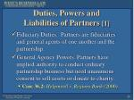 duties powers and liabilities of partners 1
