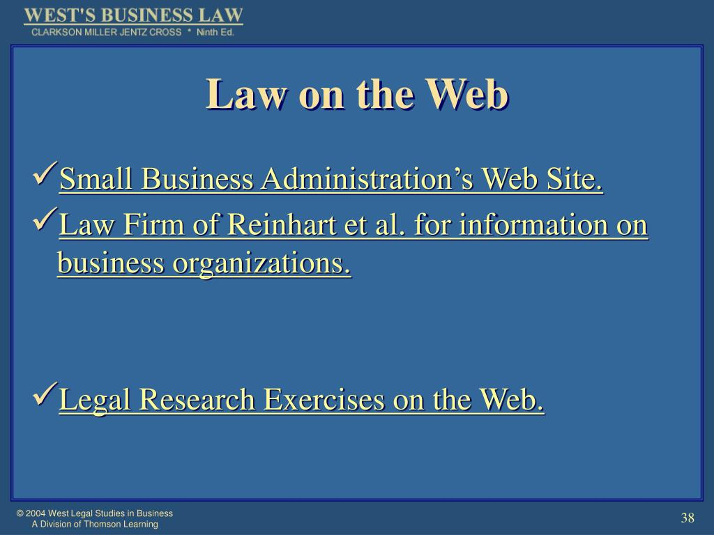 Law on the Web