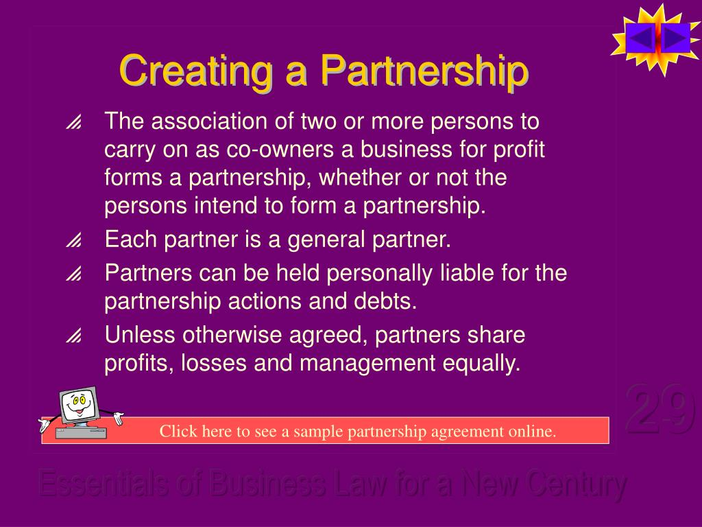 Creating a Partnership
