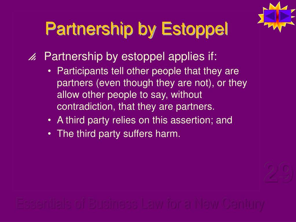 Partnership by Estoppel