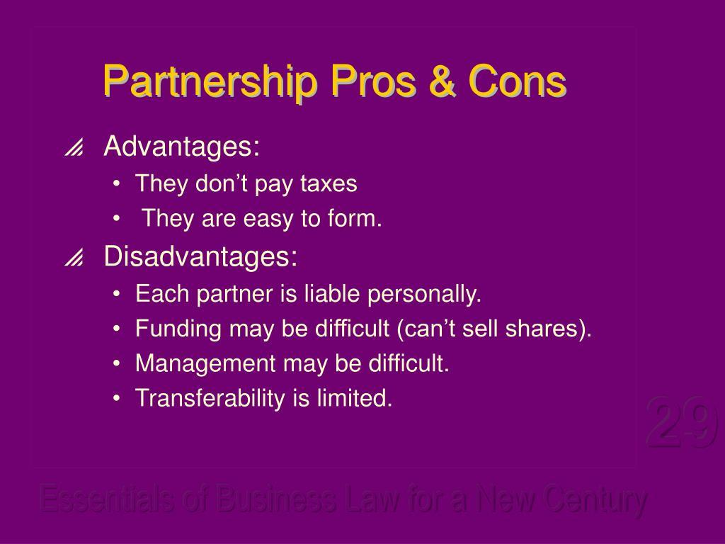 Partnership Pros & Cons