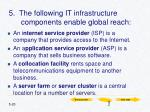 5 the following it infrastructure components enable global reach
