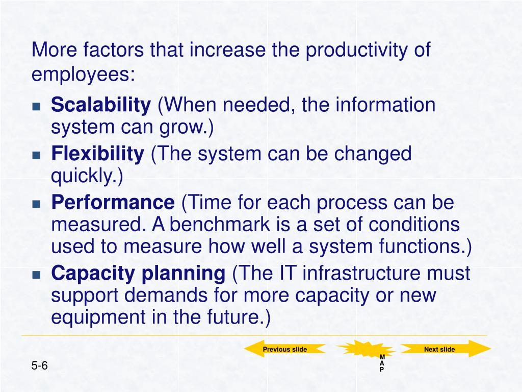 More factors that increase the productivity of employees: