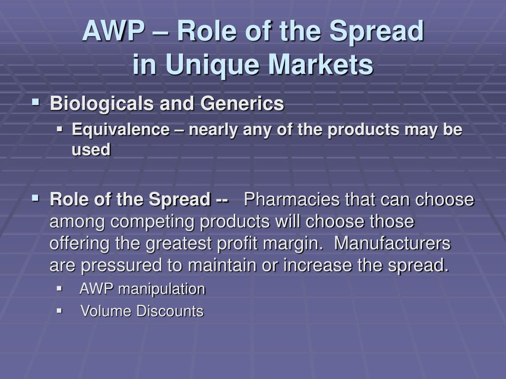AWP – Role of the Spread