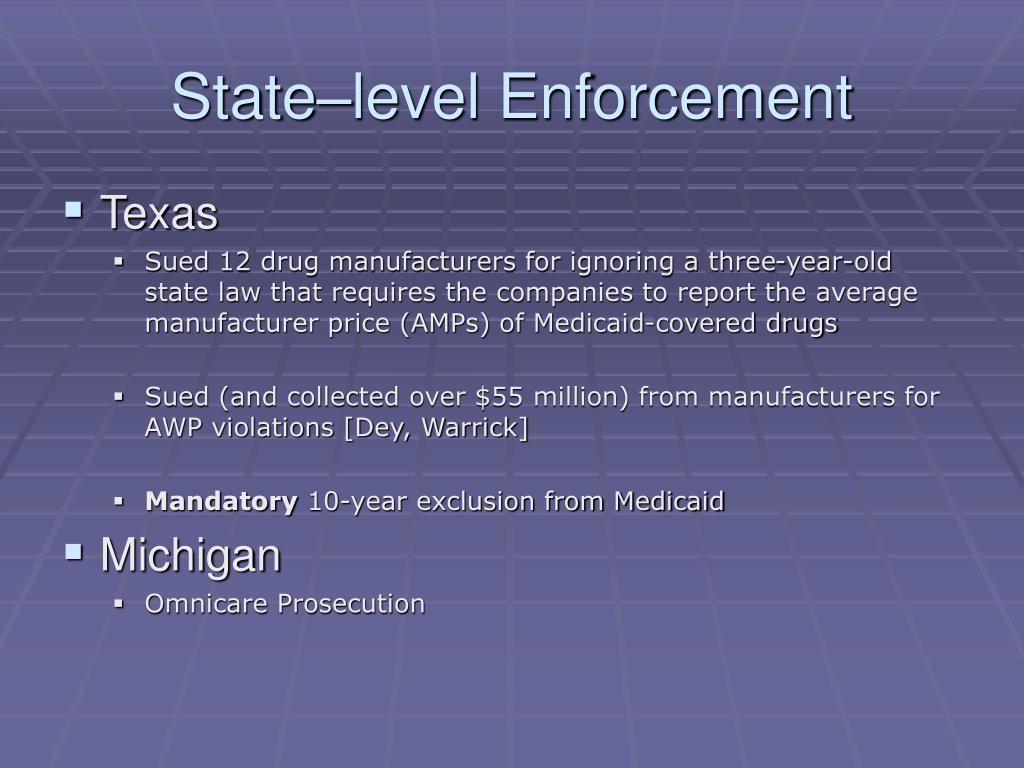 State–level Enforcement