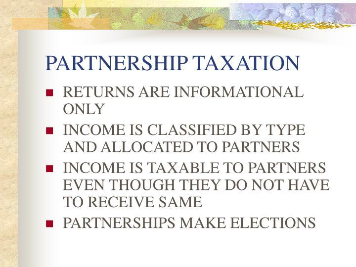 Partnership taxation3