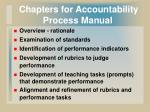 chapters for accountability process manual