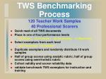 tws benchmarking process