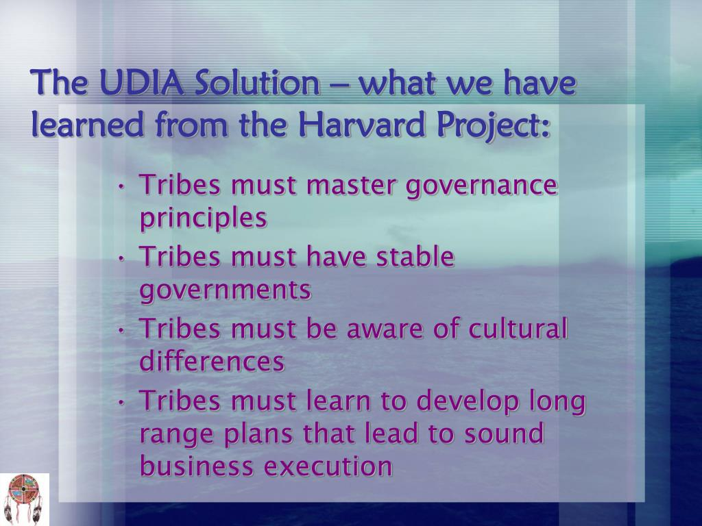 The UDIA Solution – what we have learned from the Harvard Project: