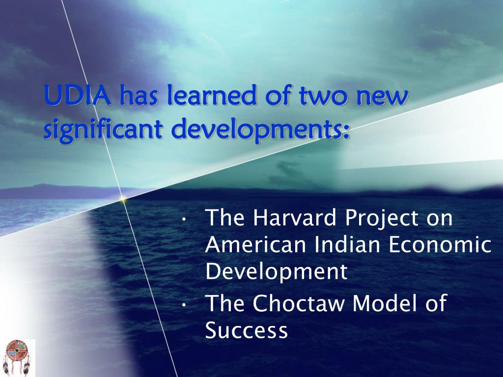 UDIA has learned of two new significant developments: