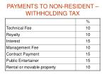 payments to non resident withholding tax