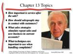 chapter 13 topics