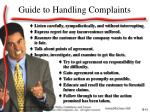 guide to handling complaints