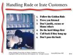 handling rude or irate customers