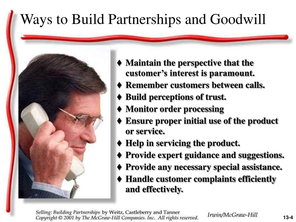 Ways to Build Partnerships and Goodwill