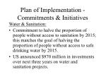 plan of implementation commitments initiatives