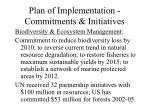 plan of implementation commitments initiatives10