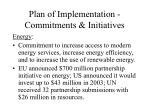 plan of implementation commitments initiatives7