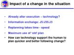 impact of a change in the situation