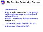 the technical cooperation program