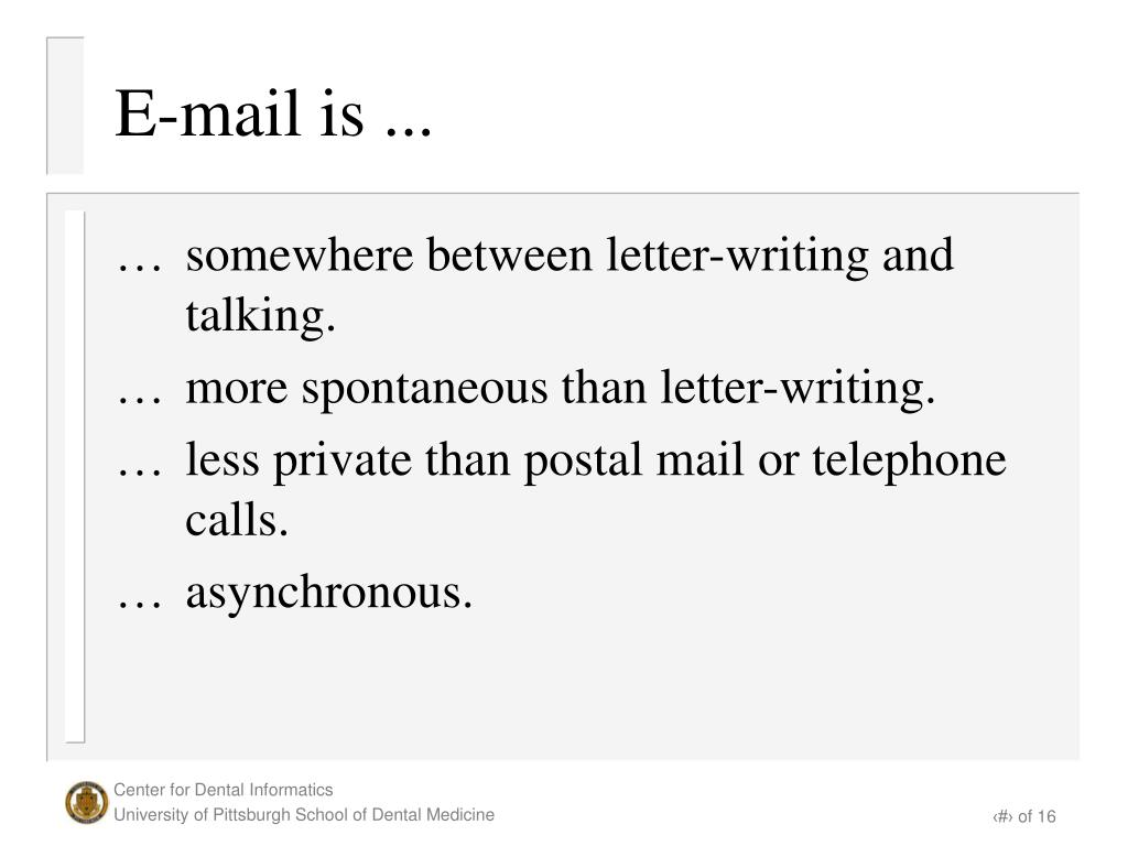 E-mail is ...