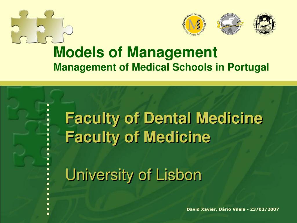 faculty of dental medicine faculty of medicine university of lisbon l.