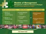 models of management management of medical schools in portugal faculty of dental medicine of lisbon4