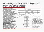 obtaining the regression equation from the spss output