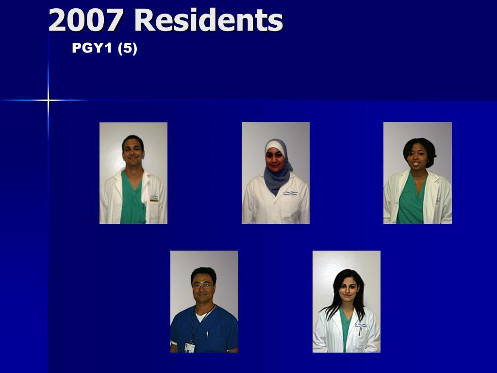 2007 Residents