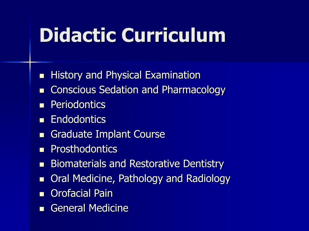 Didactic Curriculum