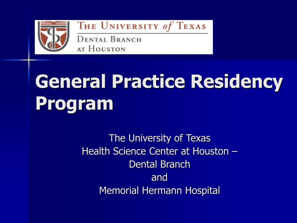 General Practice Residency Program