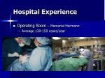 hospital experience15