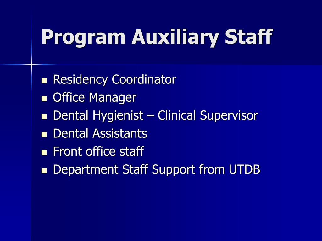 Program Auxiliary Staff