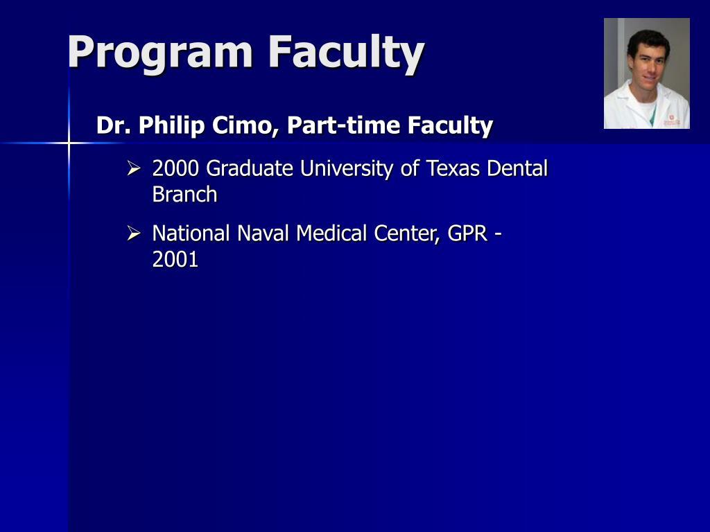 Program Faculty