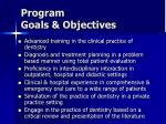program goals objectives