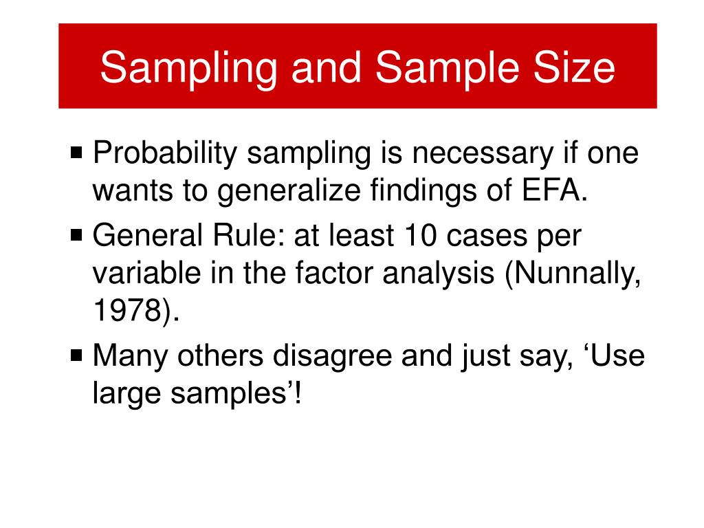 Sampling and Sample Size