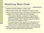 identifying major funds