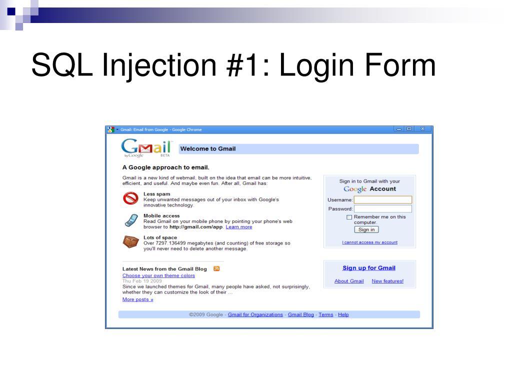 SQL Injection #1: Login Form