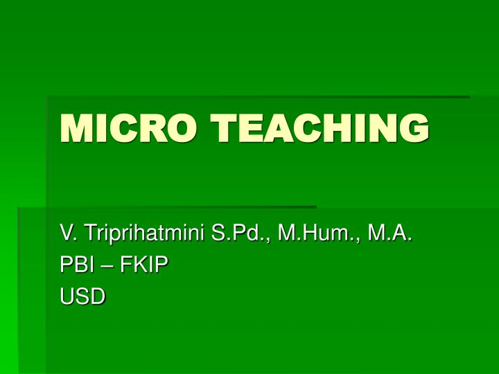 micro teaching n.
