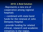 2010 a bold solution27