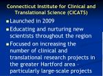 connecticut institute for clinical and translational science cicats