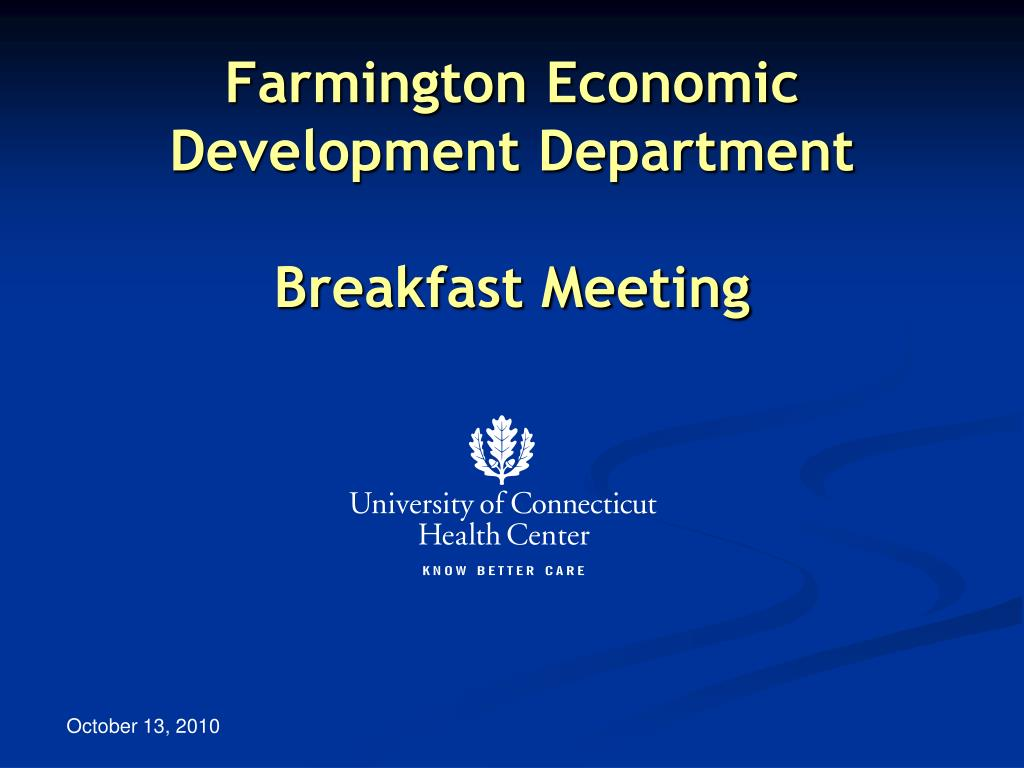 farmington economic development department breakfast meeting l.