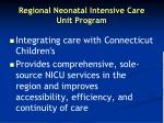 regional neonatal intensive care unit program