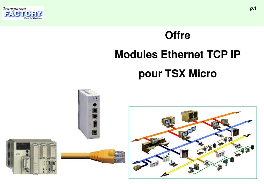 offre modules ethernet tcp ip pour tsx micro l.