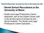 dental professionals growing your own to recruiting from afar10