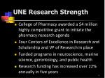 une research strength