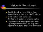 vision for recruitment
